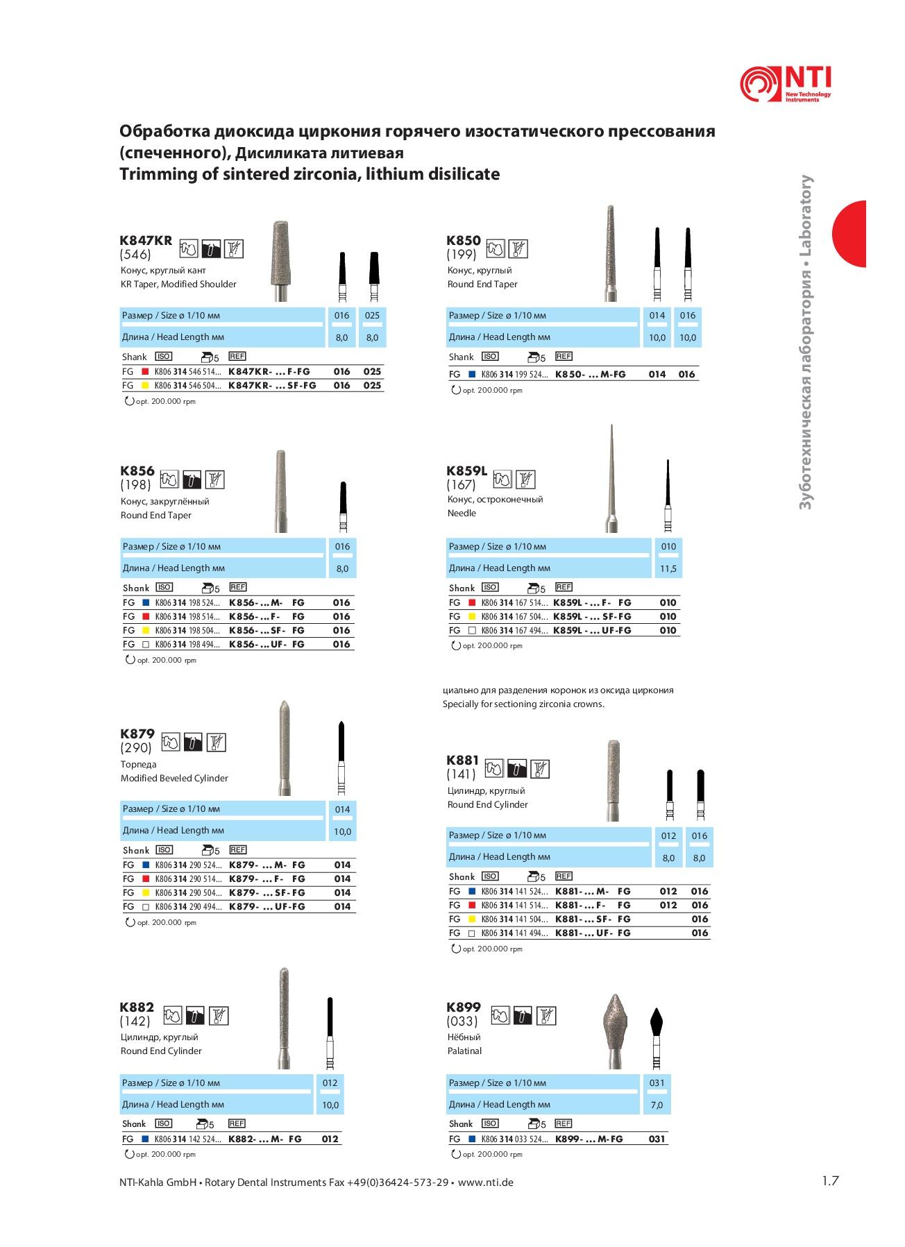 Шлифовальные инструменты HP6
