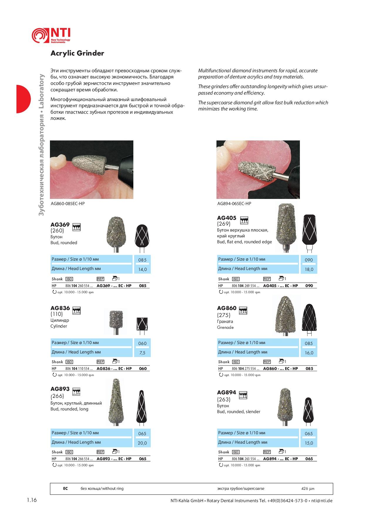 Шлифовальные инструменты HP15